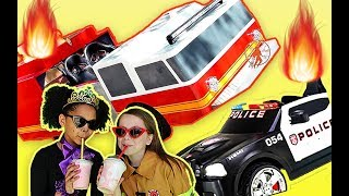 The Fire Truck and The Kid Police - Little Heroes Super Episode