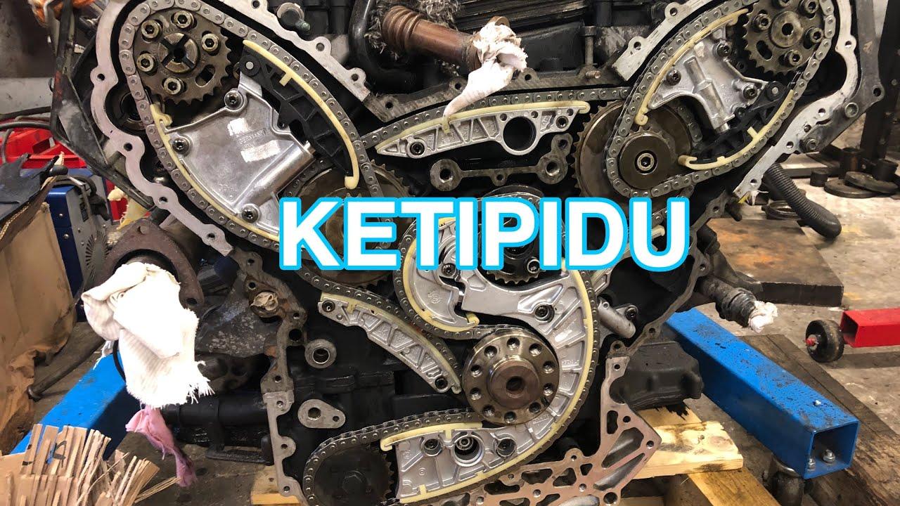 Audi 3.0TDI timing chain replacement | Audi 3.0TDI ketivahetus