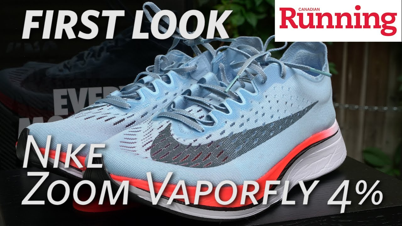 61768997efa1d First Look  Nike Zoom Vaporfly 4% - YouTube