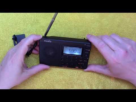 Tivdio V115 AM FM SW MP3 radio review