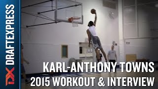 Karl-Anthony Towns 2015 NBA Draft Workout Video