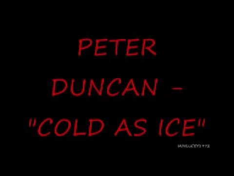 PETER DUNCAN - COLD AS ICE --- FORMER BLUE PETER PRESENTER- EARLY 1980'S  cbbc bbc1 bbc tv