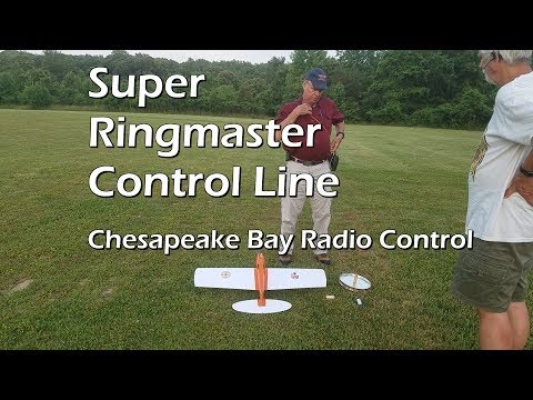 Ray flies Super Ringmaster Control Line at Chesapeake Bay Radio Club in Crownsville, MD