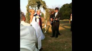 Chris Janson Singing At His Wedding Video