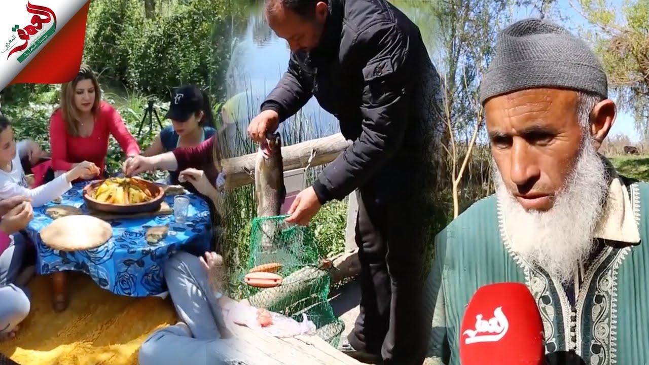 بها بحيرات لصيد سمك تروتا..أمغاس نواحي آزرو  مكان سياحي طبيعي يستقطب العديد من الزوار