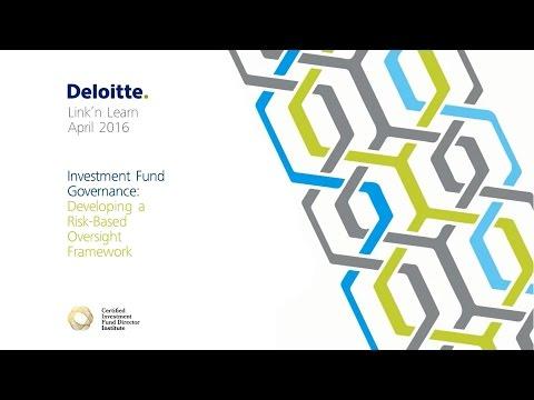 Link'n Learn - Investment Fund Governance - Developing a Risk Based Oversight Framework