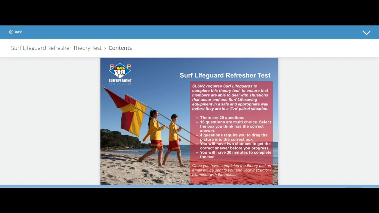 Surf Life Saving New Zealand - Online Learning Portal