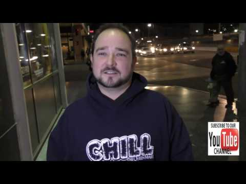 Bradley Pierce talks about if Black Friday is racist outside the Pantages Theatre in Hollywood
