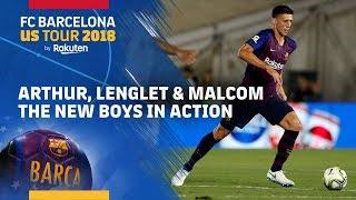 Fc barcelona's three new additions for the 2018/19 season make their first appearances as blaugranes ---- barcelona on social media subscribe to our offic...