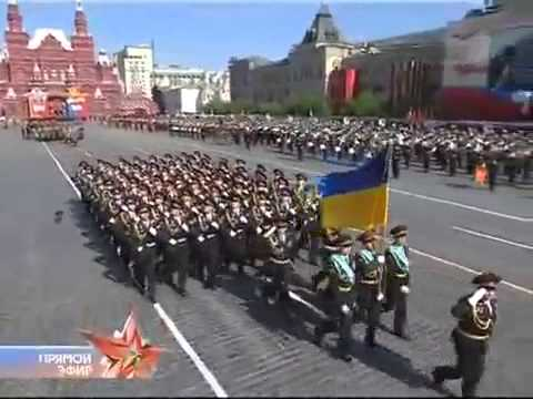 Multi-national forces in the Russian Victory Day Parade