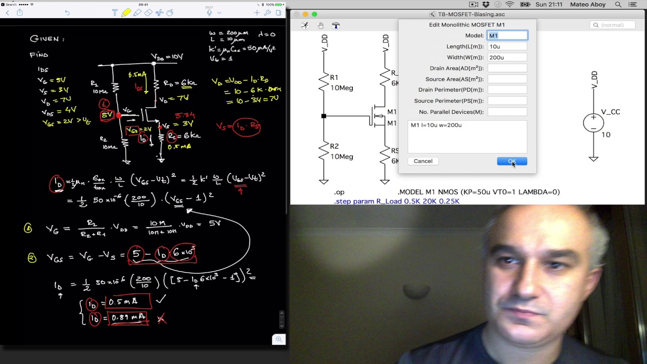 Mosfets Ltspice Simulation Of Mosfet Discrete Bias Circuit Youtube Simulator For Mac Os X