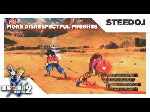 More Disrespectful Finishes In Dragon Ball Xenoverse 2  - Super Saiyan Themed
