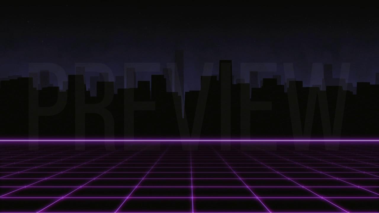 80s Retro City Background Youtube