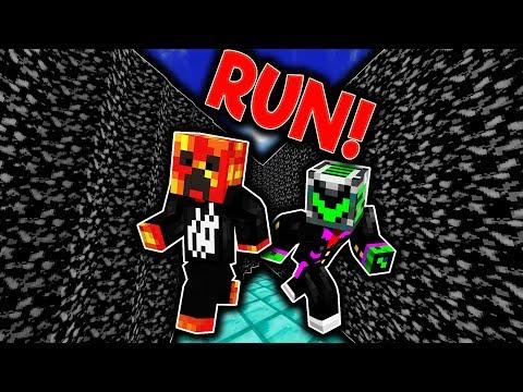 RUNNING FROM BLACK LAVA! Minecraft - Black Lava Parkour w/ PrestonPlayz!
