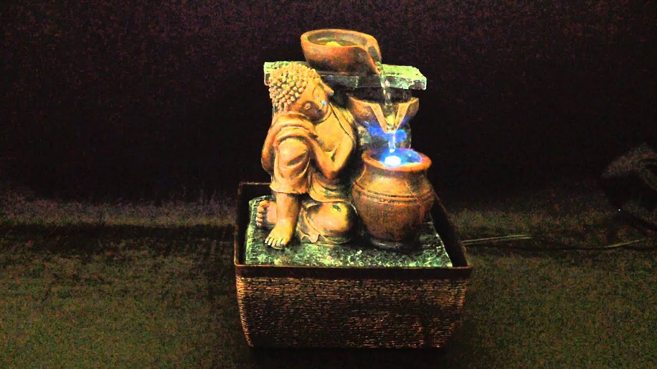 Buddha indoor water fountain with led light feng shui youtube buddha indoor water fountain with led light feng shui workwithnaturefo