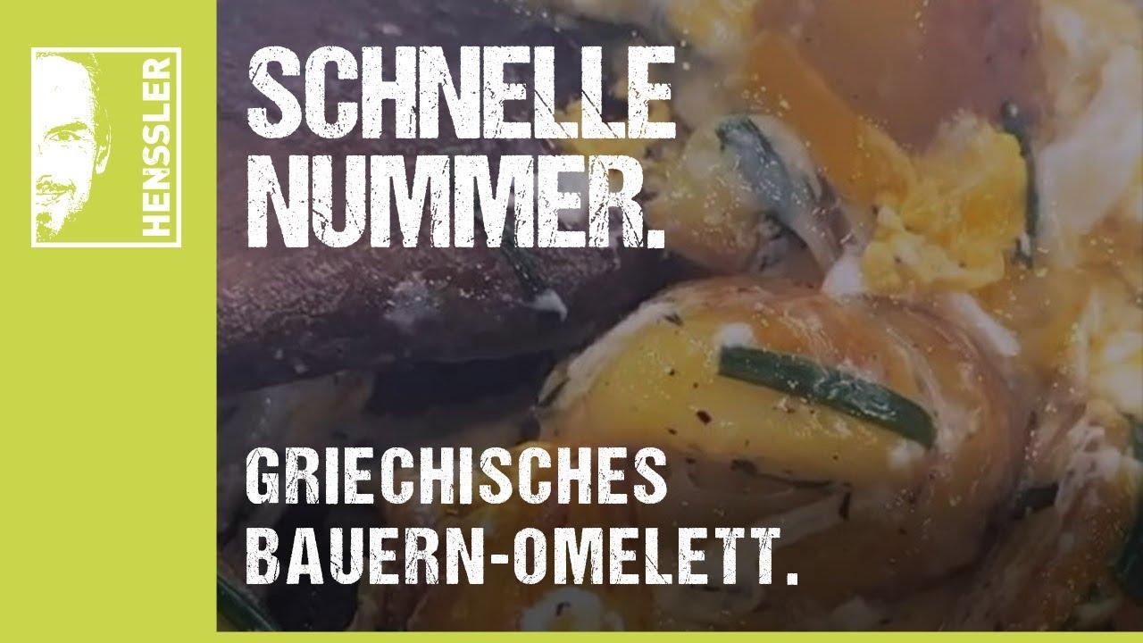 Schnelles Bauern-Omelett-Rezept griechischer Art von Steffen Henssler