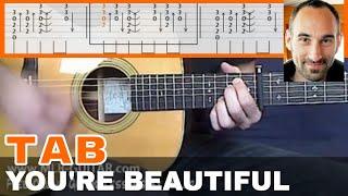 "Guitar Cover / Tab ""You're Beautiful"" by MLR-Guitar"