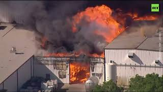 Explosion sparks massive fire at Illinois chemical plant