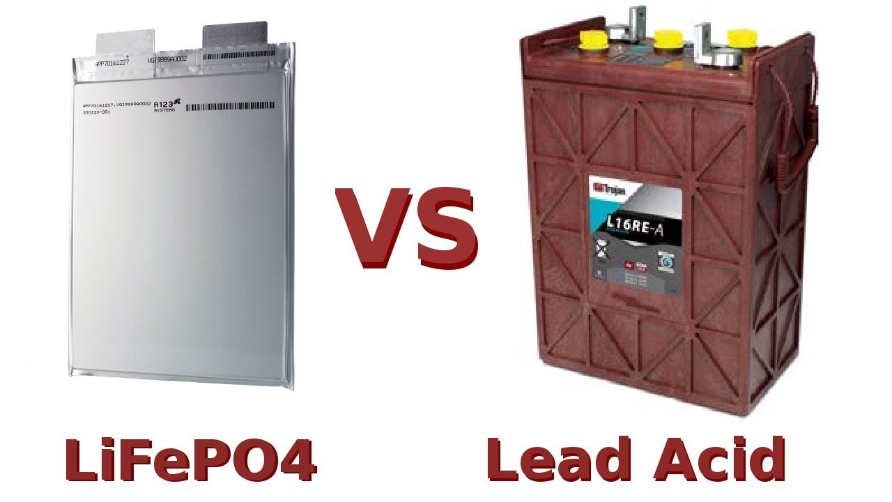 Lifepo4 Vs Lead Acid Battery Youtube