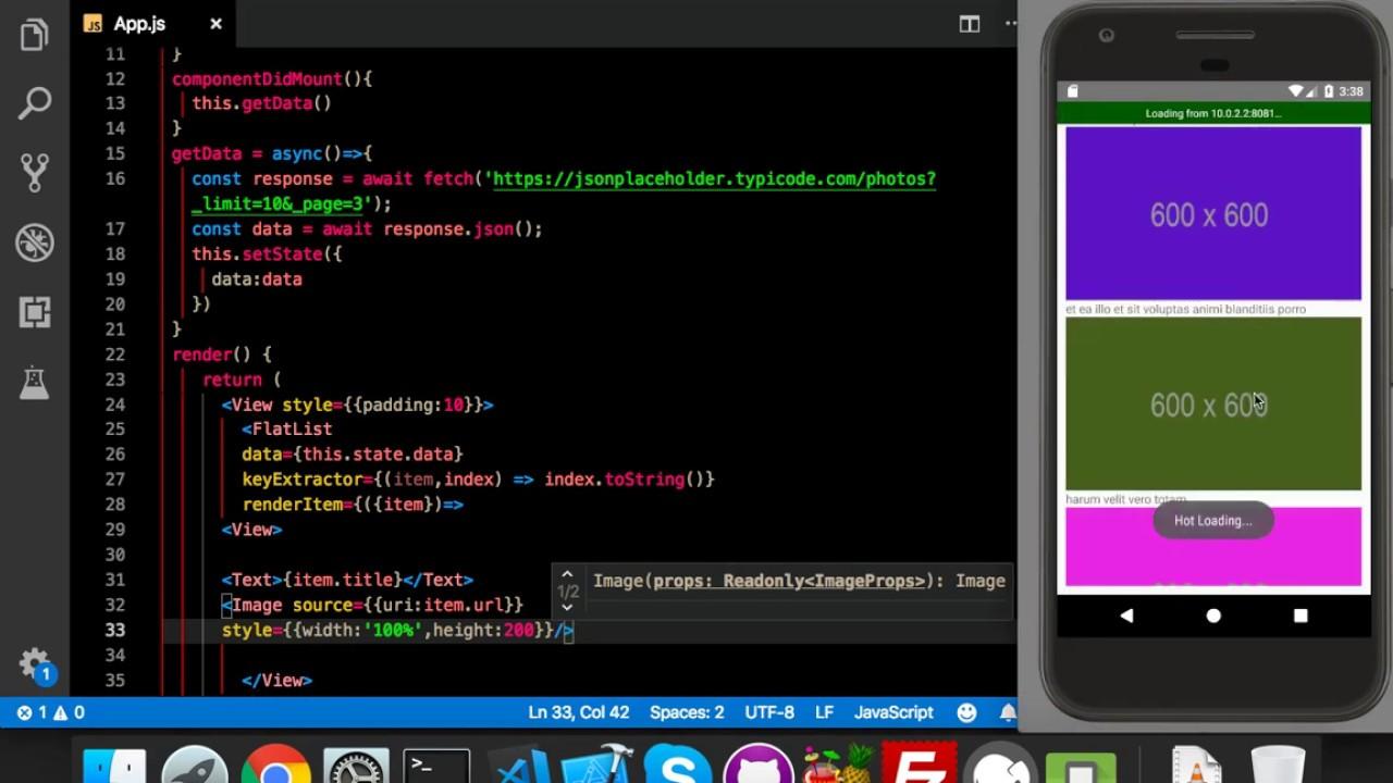 Rendering Json in flatlist    parse json data    react native tutorial in  hindi