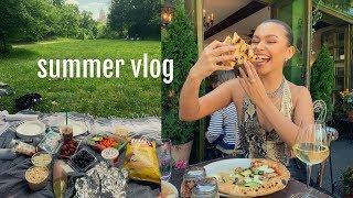 SUMMER VLOG | picnic in central park, gov ball, & shopping downtown!