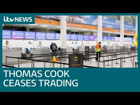 Thomas Cook ceases trading and leaves thousands in travel limbo | ITV News