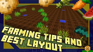 Minecraft | Farming Tips & Best Layout