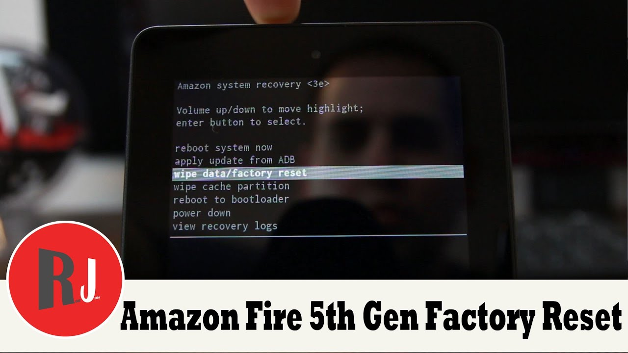 how to factory reset the amazon fire 5th gen 7in tablet youtube rh youtube com Kindle Fire Quick Setting Screen Reset Frozen Kindle Fire