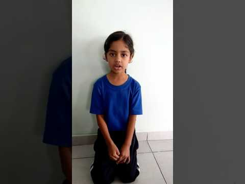 वर्णमाला गीतं – Sanskrit Rhyme - Aditi Pandey (Grade 1)