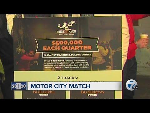 Detroit Mayor Mike Duggan announces Motor City Match