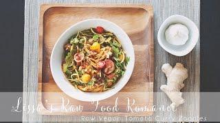 Recipe: Raw Vegan Fruitarian Tomato Curry Zoodle Salad!