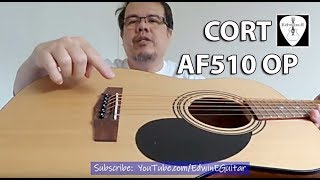 Cort AF510 OP Acoustic Guitar Review Demo