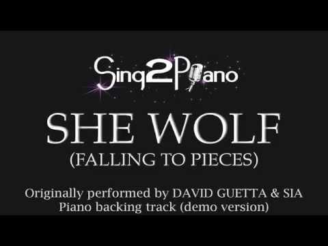 She Wolf - David Guetta & Sia (Piano backing track) cover