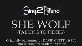 She Wolf - David Guetta & Sia (Piano backing track) cover