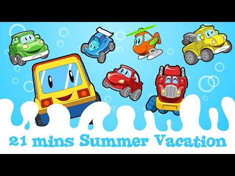 "21 mins ""Summer Vacation""@""Mr.Wheeler&Friends"" CARtoons"