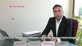 ISC PARIS Spé. Marketing management des industries du luxe, dirigée par M. Rioux.
