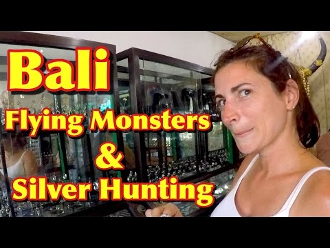 Bali, Flying Monsters and Silver Hunting in Ubud Vlog 19