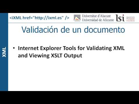XML: Validación de un documento