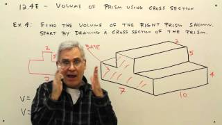 12-4E--Volume of Prism Using Cross Section