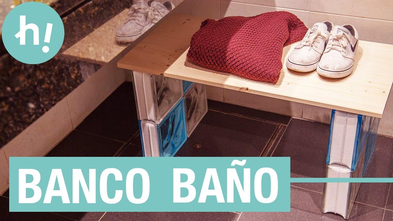 Banco para el baño · Handfie DIY - YouTube