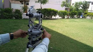 Part-1 Theodolite Surveying In Hindi (Parts of Theodolite, Varnier scale,)