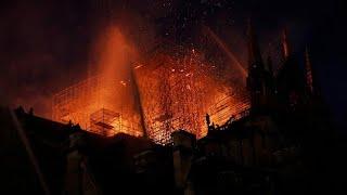 بالصور: حريق كاتدرائية نوترودام الشهيرة في باريس