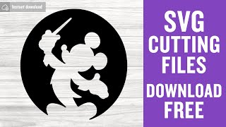 Mickey Mouse SVG Free Cutting Files for Cricut Scan n Cut Instant Download
