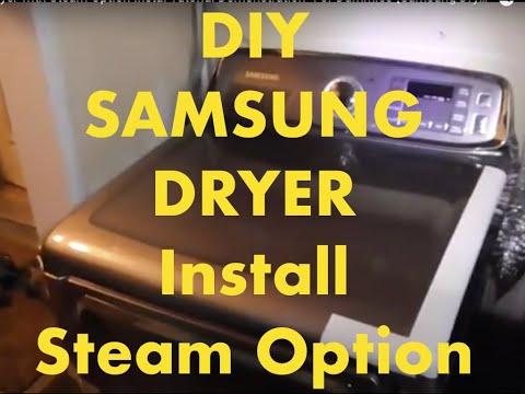 SAMSUNG Brand Dryer With Steam Option-Installation Tutorial Demonstration