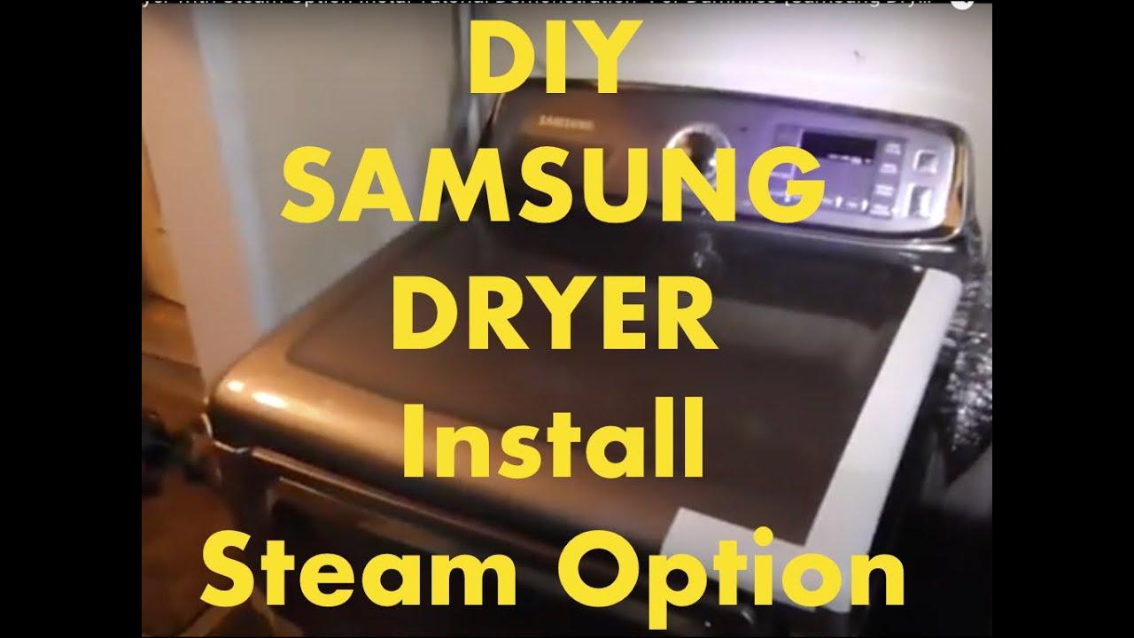 SAMSUNG Brand Dryer with Steam Option-Installation