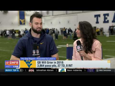 Pro Day Report: QB Will Grier in 2019: 3,864 pass yds, 37 TD, 8 INT