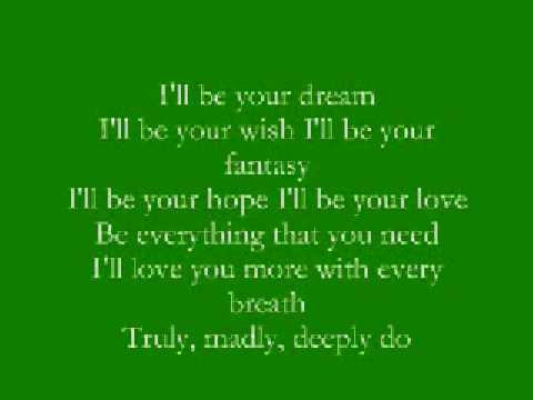 Truly, Madly, Deeply  Savage Garden With Lyrics