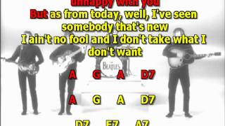 another girl beatles karaoke best instrumental chords lyrics