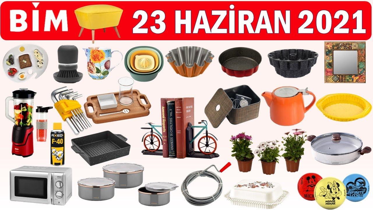 BİM 23 Haziran 2021 Aktüel Ürün Kataloğu    Çeyizlik & Mutfak Ürünleri   Beklenen Katalog   bu hafta
