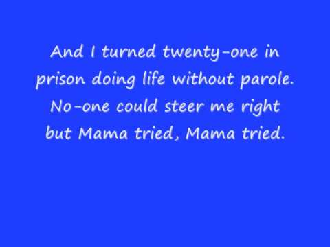 merle haggard mama tried w/ lyrics - YouTube